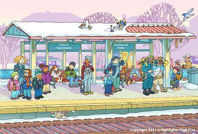 En la estacion de tren