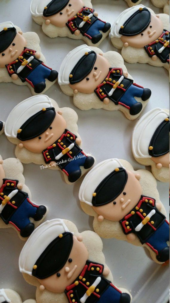 United States Marine Corps Cookies-Welcome Home Party-Semper Fi TheIcedSugarCookie.com Sugar Cookies By Lilly