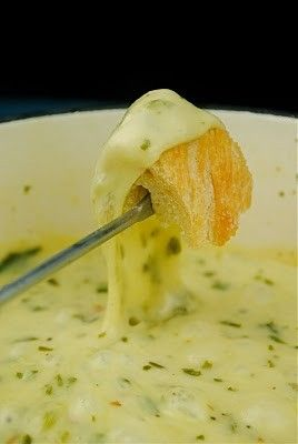 Mozzarella and Parmesan Pesto fondue - Click image to find more Food & Drink Pinterest pins