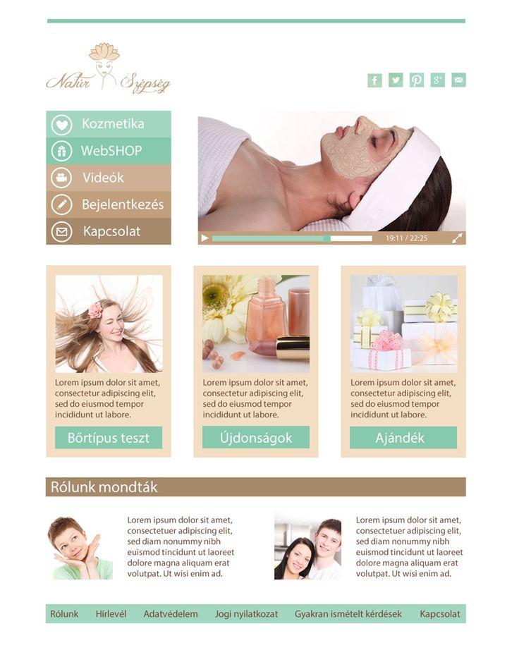 Natúr Szépség logó és webdesign - Harmony-Design Studio