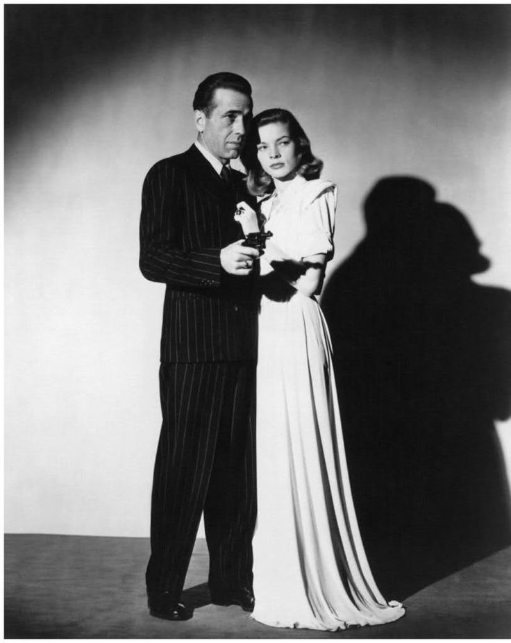 """Humphrey Bogart and Lauren Bacall in promotional pictures for """"The Big Sleep"""" (Howard Hawks, 1946)"""