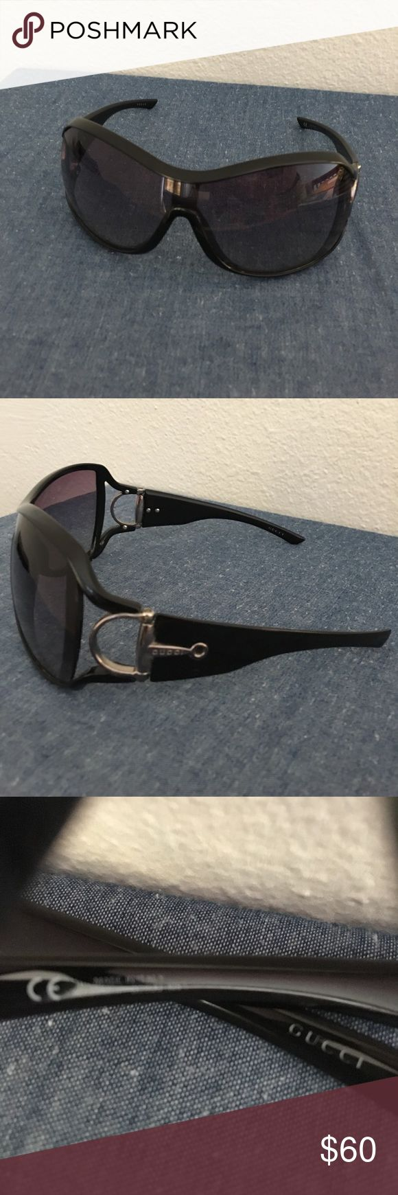 Gucci Oversized Shield Sunglasses GG2918/s 105 Authentic Gucci Sunglasses with Black Gradient Lenses. Some Sign of Wear but Nothing to Block Vision in ANY way. Made in Italy. Original Case Included. Gucci Accessories Sunglasses