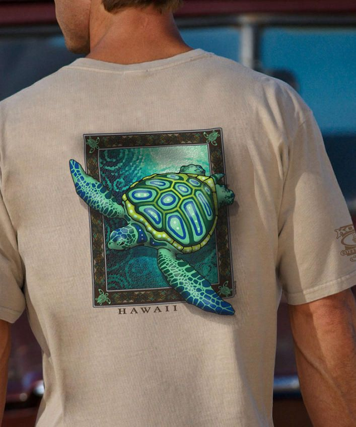 Sea Turtle Mosaic - Kona Coffee-Dyed The Classic Crew