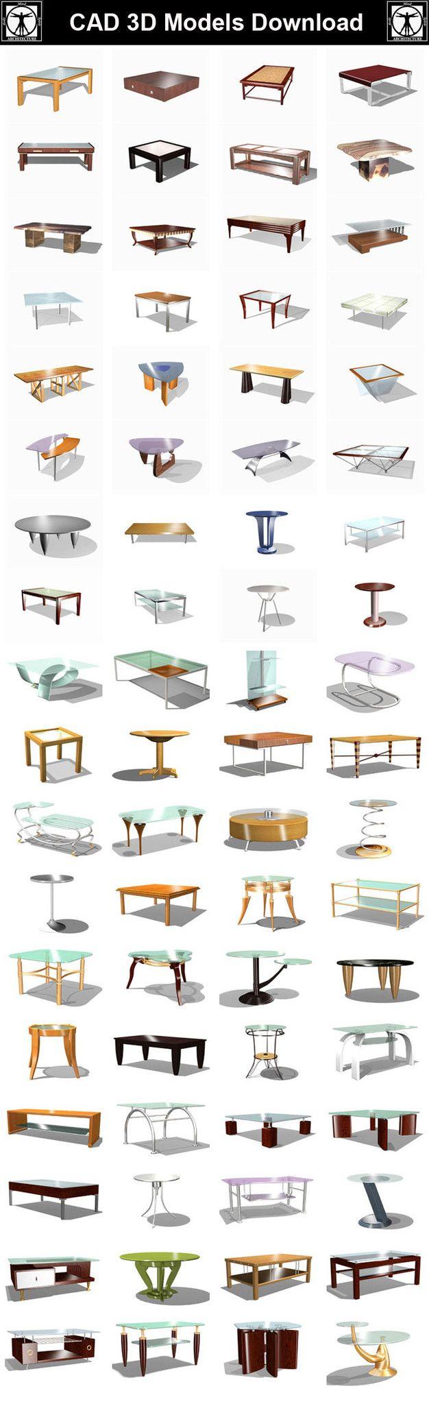 Tables 3D Cad Models – CAD Design | Free CAD Blocks,Drawings,Details