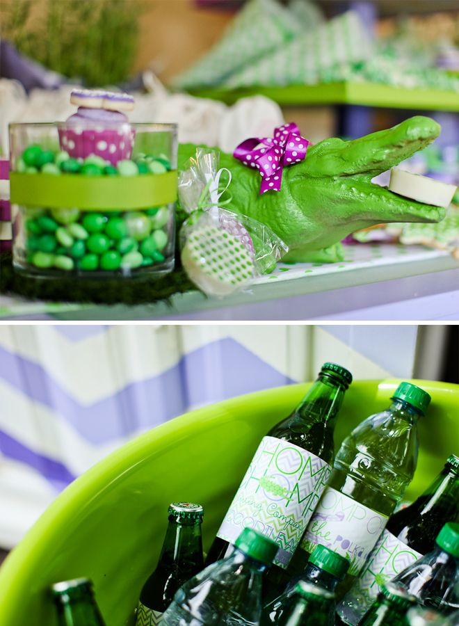 Polka dot crocodile party OR Peter Pan Party from Pizzazzerie.   http://pizzazzerie.com/parties/childrens-parties/super-cute-polka-dot-crocodile-party/# #peterpan #party