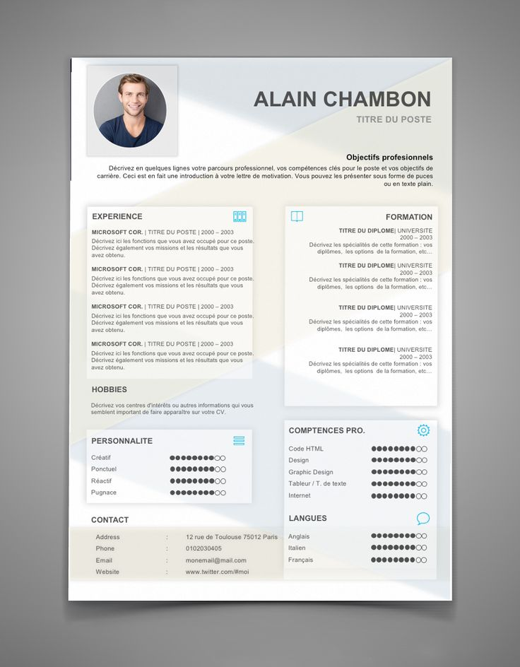 19 best cv traditionnels images on pinterest