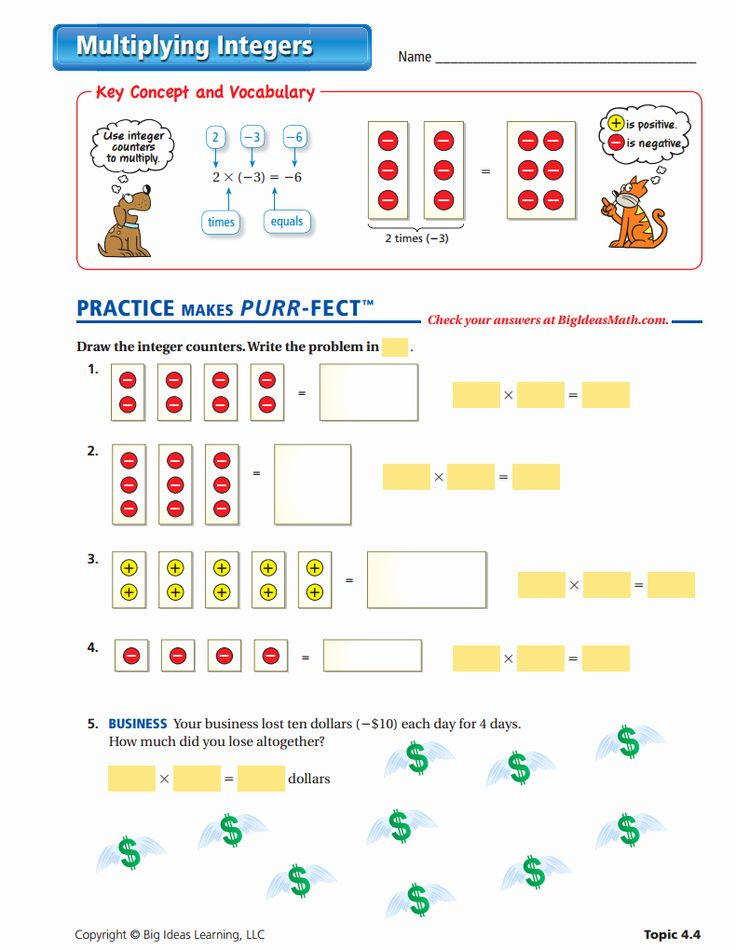 Multiplication Of Integers Worksheet Luxury Integers