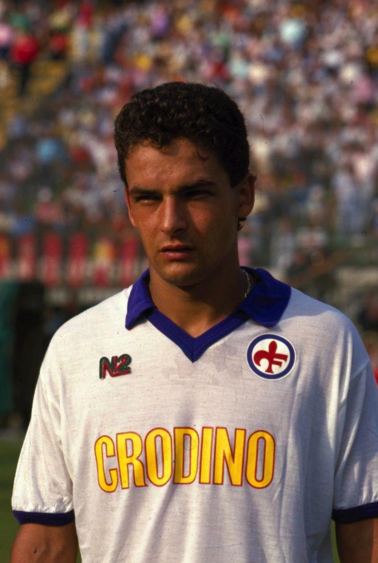 A Younger Roberto Baggio in Fiorentina.