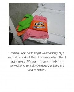 How to make your own dryer sheets: Scrapbook Page1