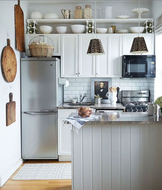 Maximize Your Kitchen Storage And Efficiency With These Small Kitchen Design Ideas And Space Small Space Kitchen Small Apartment Kitchen Kitchen Remodel Small