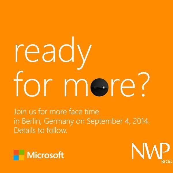 "Microsoft Devices Group has sent out ""SAVE THE DATE"" Invites to IFA press event in Berlin 