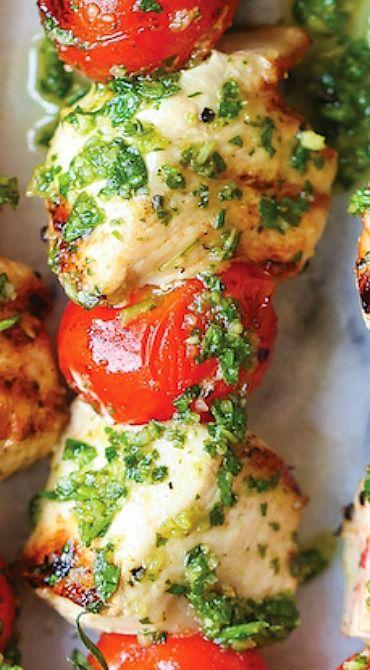 Chicken Pesto Kabobs #Skinny4LifeEats™