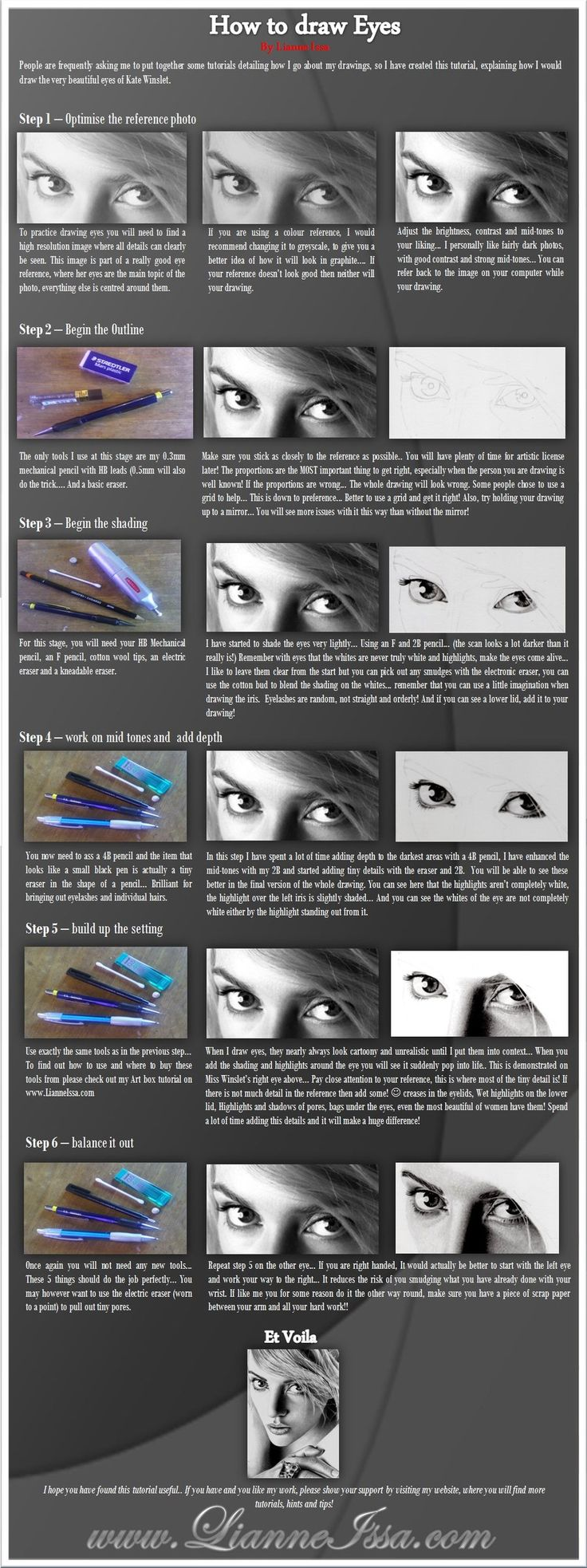 Eye Drawing tutorial by ~Lianne-Issa on deviantART