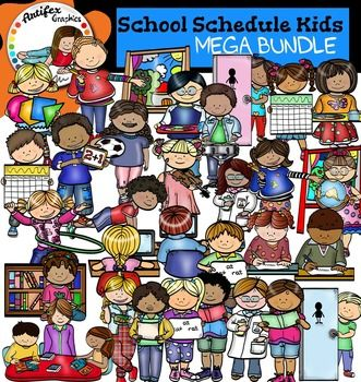 *50% off for the first 48 hours*Class Schedule clip art set contains 70 image files, which includes 35 color images and 35 black & white images in png.All categories include two images: one of a boy and one of a girl (except Guided Reading, an image showing a teacher and her students: one girl and one boy).The class schedule clip art includes:1.Art class (boy)2.Art class (girl)3.Computers (boy)4.Computers (girl)5.Phonics (boy)6.Phonics (girl)7.Library (boy)8.Library (girl)9.Math (boy)10.M...