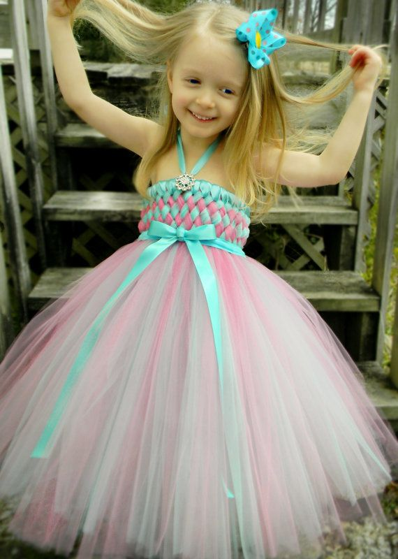 Easter Basket Tutu Dress in Robin Egg Blue and by TutieCutieTutus, $75.00