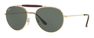 Gafas de sol - #RB3540 Un modelo clásico con aires de renovación. Las #Ray-Ban 3540 están diseñadas con un doble puente que potencian su comodidad. Y su aspecto estético con monturas dorada y sus lentes verdes, hacen de ella, un modelo todo-terreno.