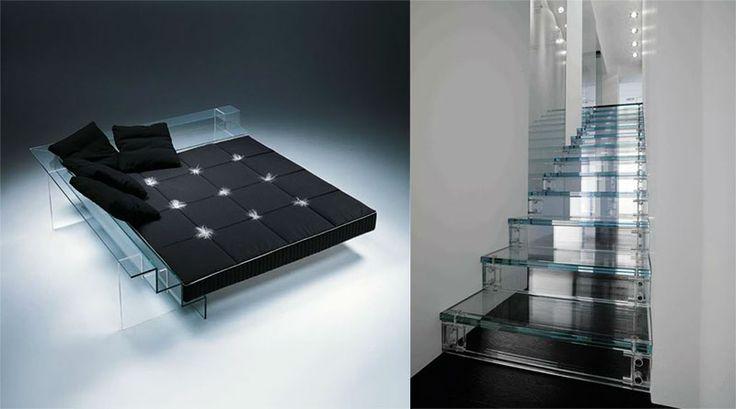 mobili di design in vetro collezione simplicity santambrogio milano