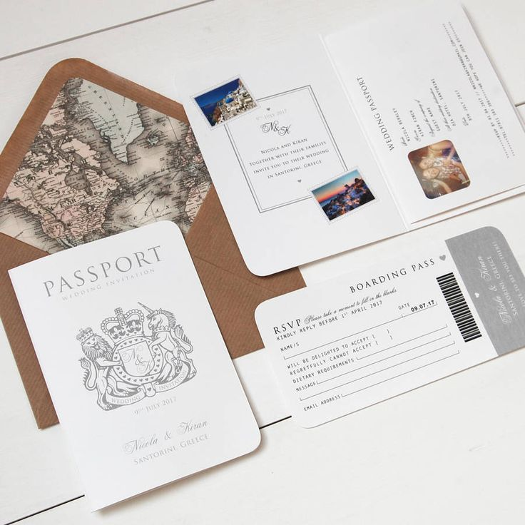 'Around The World' Passport Wedding Invitation