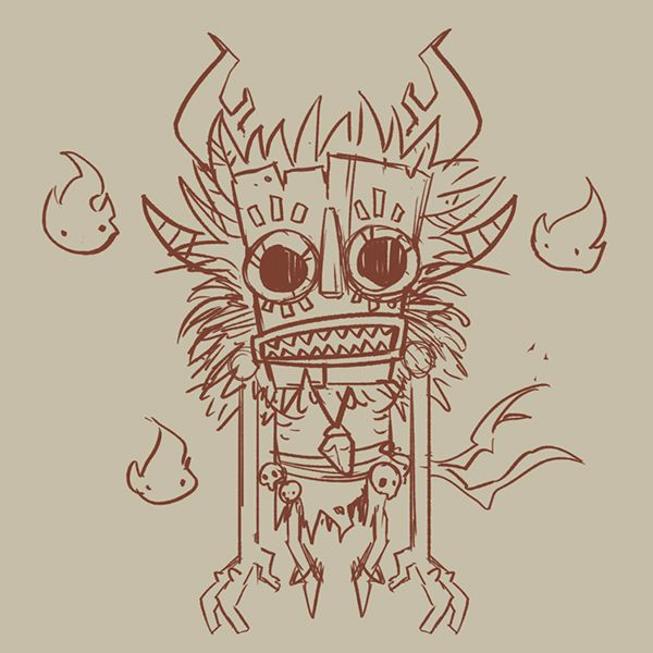 Forest Tiki by Jordi Villaverde, via Behance