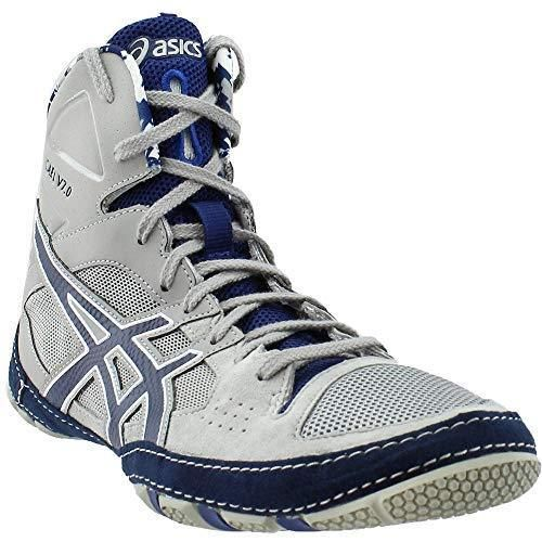 ASICS Men's Cael V7.0 Wrestling Shoe Light GreyEstate Blue