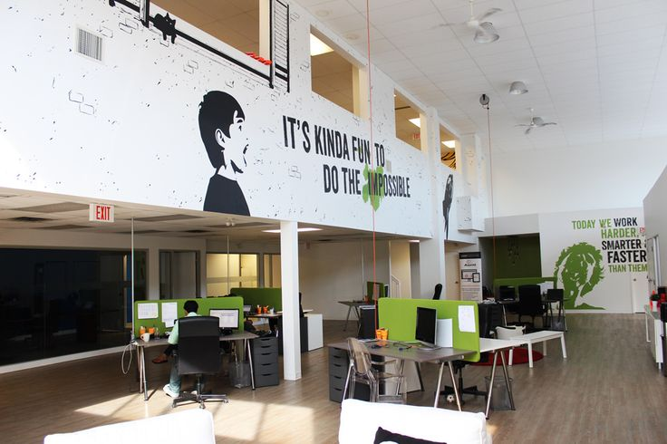 Assent Compliance truly wanted a unique cool environment for employees to be inspired every day. Hand painted by Mural Magic in Ottawa.