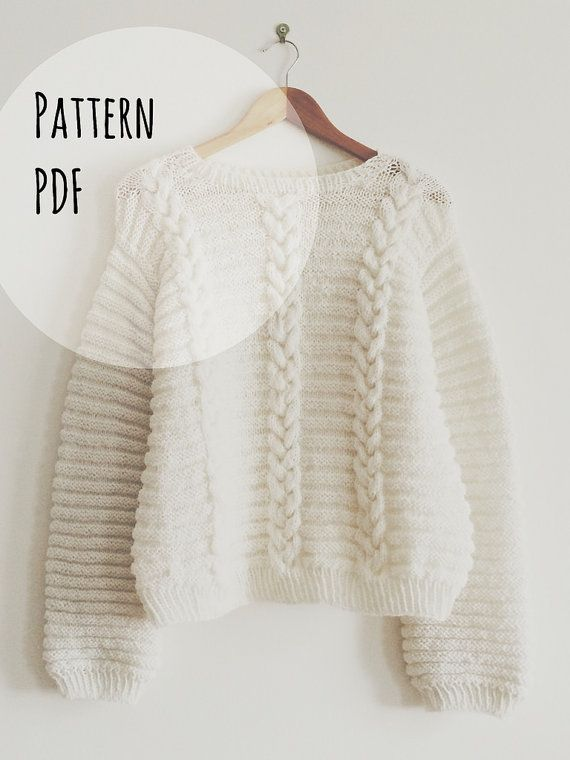 Knit Pattern in english and french  Jumper Betty by MarcelleetClo