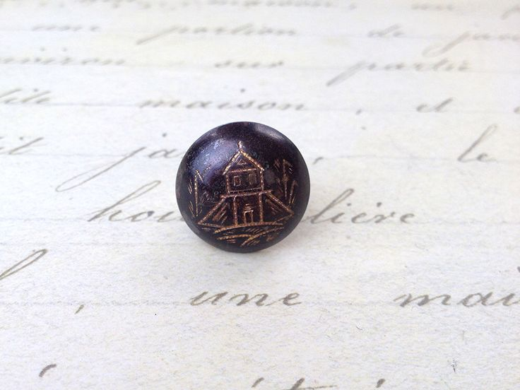 Medium Antique Black Tole Church Picture metal Button 18 mm by GwensButtons on Etsy https://www.etsy.com/ca/listing/226173058/medium-antique-black-tole-church-picture