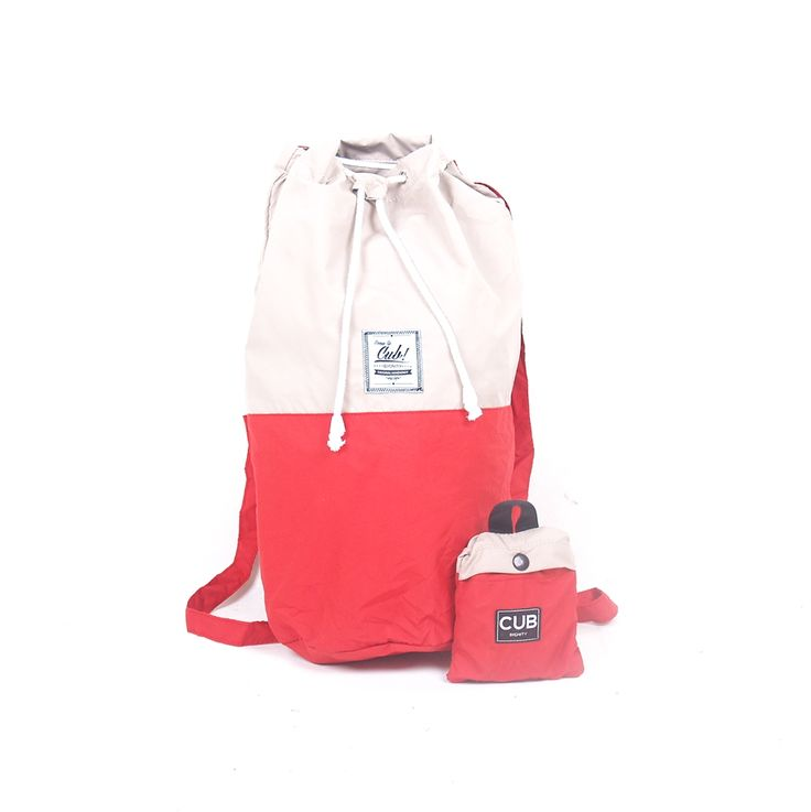 Red means Brave, be brave to embrace your new adventure on your journey and short trip with companion of CUB Traveler Red-Tan Sailor Bag, #sailorbag #bags #travelingbag #uniquebag #red #traveling