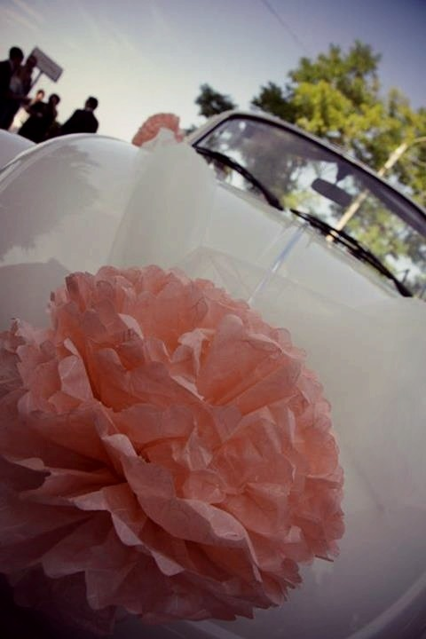 lovely #wedding #car decoration   by www.partecipazion... a-p-inspired-wedding
