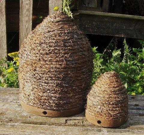 PRIMITIVE VINTAGE GARDEN BEE SKEP   Bee skep, Garden ...