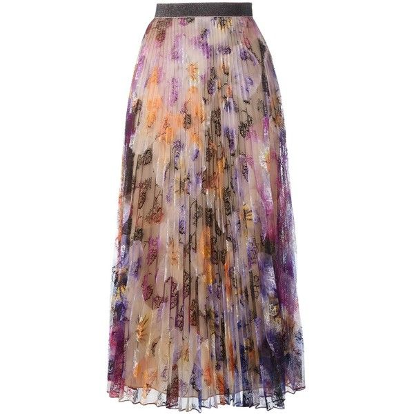 Christopher Kane pleated pansy lace skirt ($1,030) ❤ liked on Polyvore featuring skirts, long lace skirt, pleated maxi skirt, long skirts, high-waisted maxi skirts and high waisted pleated skirt