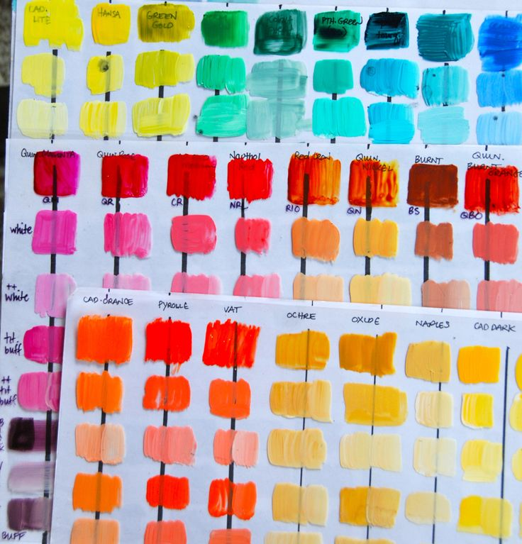 The  Best Color Mixing Chart Acrylic Ideas On   Color