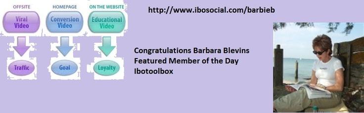 Congratulation Barbara Blevin  http://www.ibosocial.com/barbieb