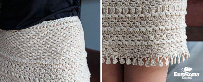 Crochetemoda: Saia de Crochet