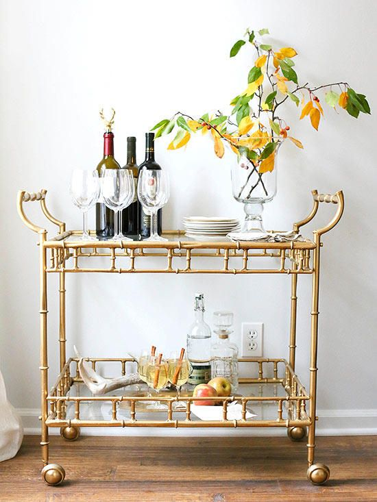 This Stylish Br Bar Cart Which Could Easily P As A High End Splurge Was Found And Refreshed For Less Than 250 Julie Of Coordinately Yours