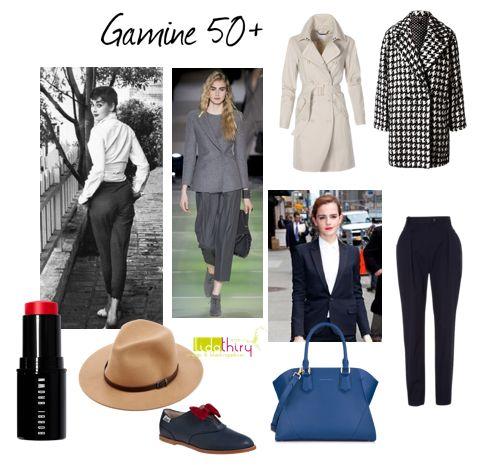 Hoe kleed je je als 50+ Gamine?  www.lidathiry.nl   klik op de foto voor het blog