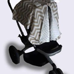 Car seat canopy winter stone chevron #chevron #stone #carseatcanopy #moocachoo #babyproduct #handcrafted #onlineshopping #mommy