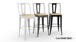 lot 4 tabourets metal la marcelle assise 76cm mobiliermoss