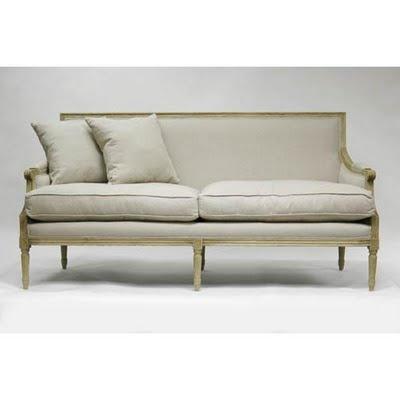 Gracefully Vintage French Sofa Formal But Simple Frame Speak To Parisian Elegance Linen
