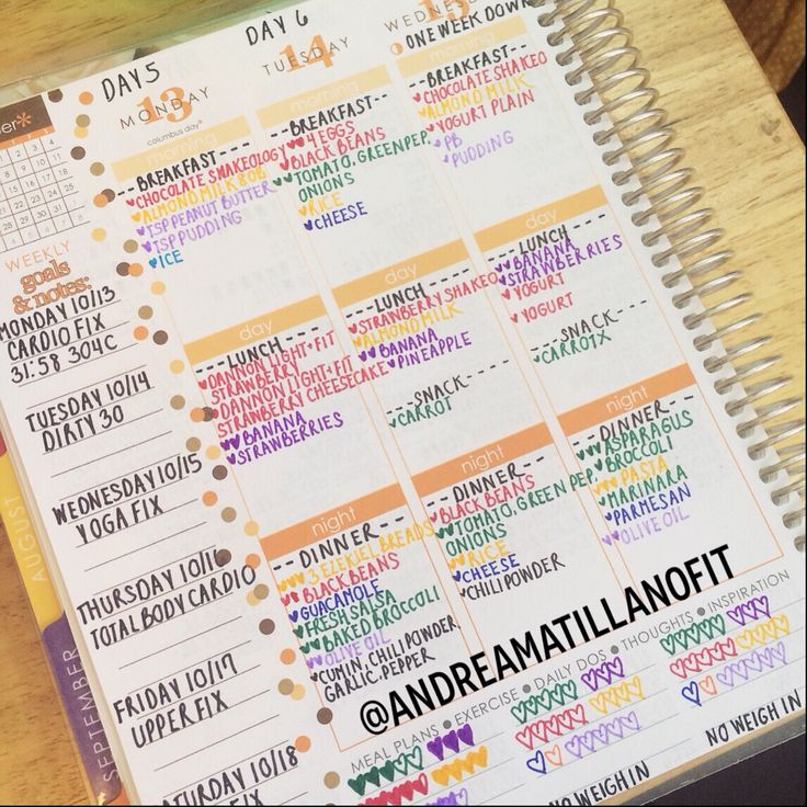 21 Day Fix Meal Planning with an Erin Condren Life Planner