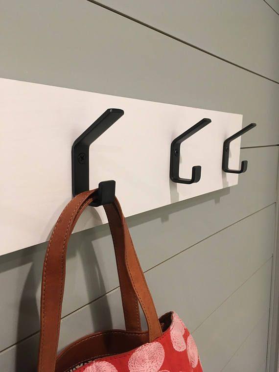 White Wall Hooks Entryway Coat Hooks Modern Decor Wh 01 B Etsy In 2020 Modern Wall Hooks Wall Hooks Entryway Coat Hooks