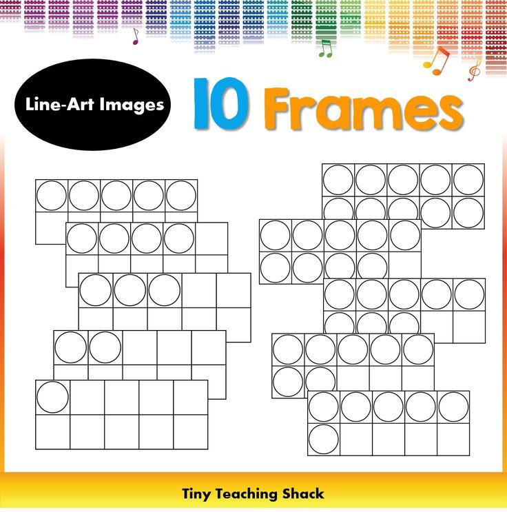 free math 10 frames clipart