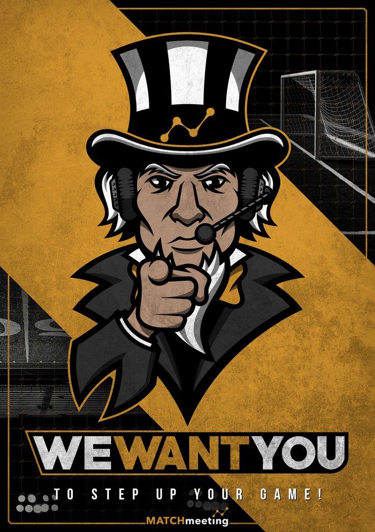 """Coach Uncle Sam"" mascot logo concept for Match Meeting's ""Sport Analysis Exchange"" advertising campaign. Learn more: https://www.facebook.com/sportanalysisexchange/ https://match-meeting.com/ Made by Tobler Gergő aka TGer's DIY #tgersdiy Follow me on Pinterest.com/tgercojones"