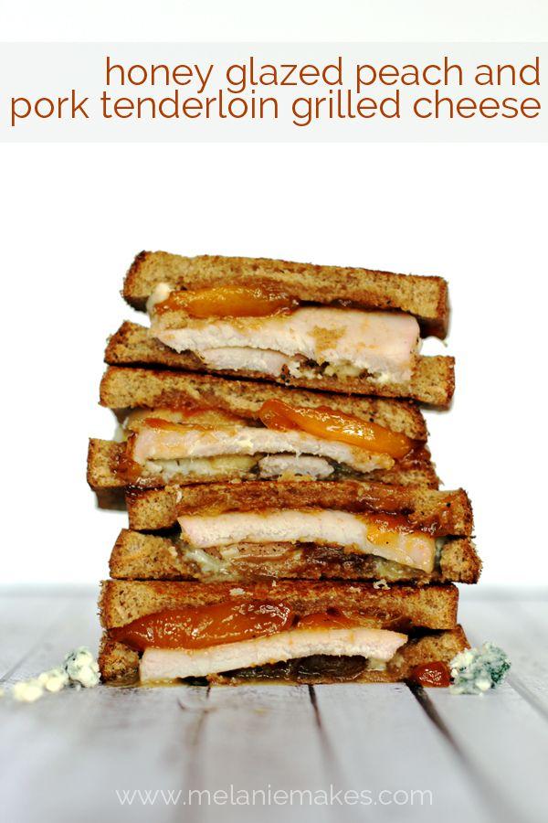 Honey Glazed Peach and Pork Tenderloin Grilled Cheese ...