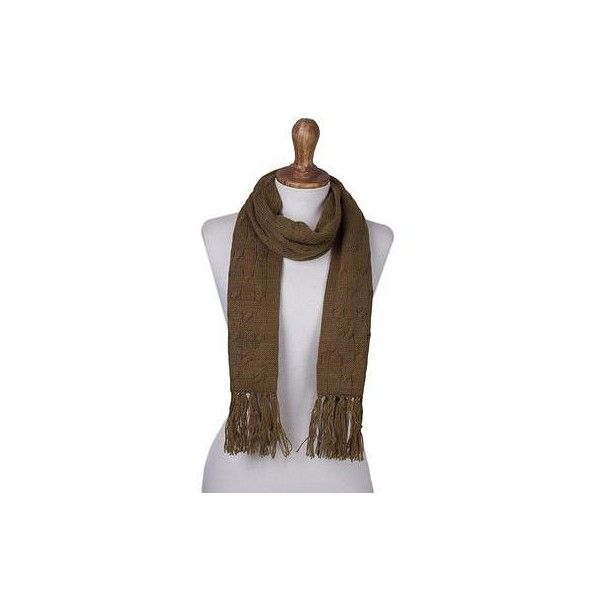 NOVICA Andean Acrylic Cable Knit Scarf in Tan ($20) ❤ liked on Polyvore featuring accessories, scarves, brown, clothing & accessories, wrap, brown scarves, lightweight shawl, wrap scarves, lightweight scarves and novica