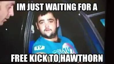 Just waiting for a free kick to Hawthorn