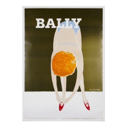 #vintage - #Bally Shoes Vintage Ad Poster