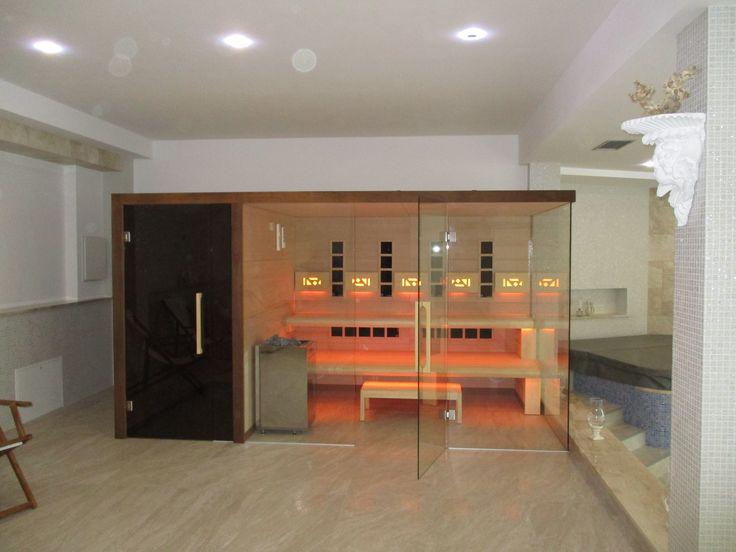 Sauna Modern Line z prysznicem oraz opcją Infra Red.