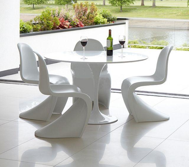 Table De Repas TULIPE En Fibre De Verre