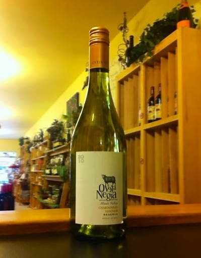 Just in! A blend of chardonnay and voigner from Chile.  Try this with salmon marinated in fine herbs, or clam chowder.